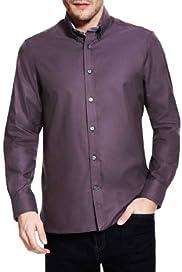 Blue Harbour Luxury Pure Cotton Button-Down Collar Shirt [T25-7881B-S]