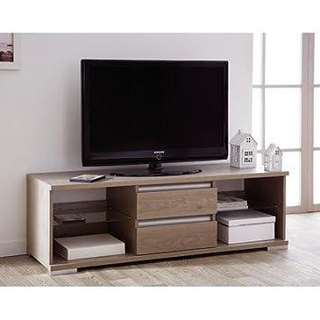 Demeyere Rio Smart TV/ Media Unit, 49 x 154 x 50 cm, Mocca Oak