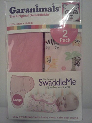Garanimals The Original SwaddleMe Large 2 Pack Pink