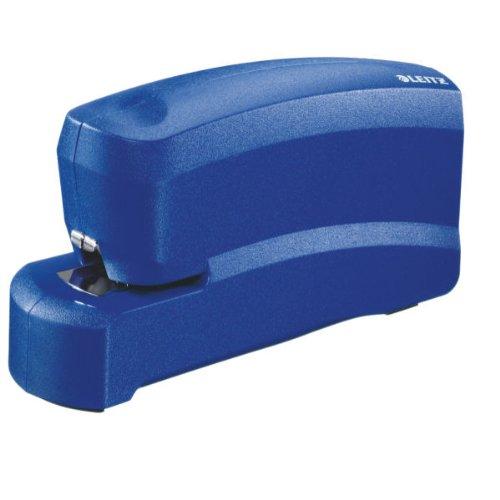 Esselte Leitz 55300035 Elektrisches Heftgerät, Heftleistung 10 Blatt, blau