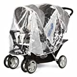 Precious Graco Stadium Duo Raincover - Cleva Edition ChildSAFE Door Stopz Bundle