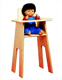 Childcraft Wooden High Chair for Dolls, 13 1/2\