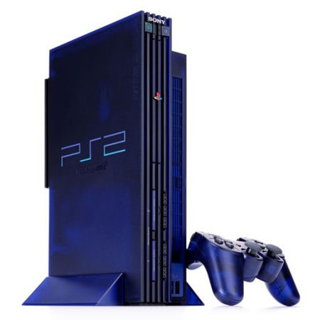JAPANESE Midnight Blue Playstation2 Game Console (Import PS2 Video Game System)