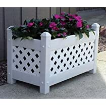 White Plastic DuraTrel Planter Box