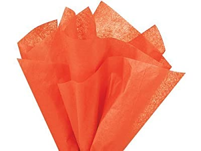 "Brand New Orange Bulk Tissue Paper 15"" x 20"" - 100 Sheets"