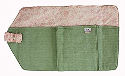 Travel Diaper Bag Compact Attaches on Stroller - Frost Green and Pink