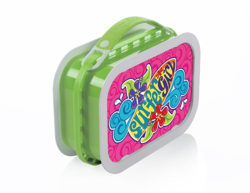 lunch boxes for kids yubo deluxe lunchbox with surfer girl design green. Black Bedroom Furniture Sets. Home Design Ideas