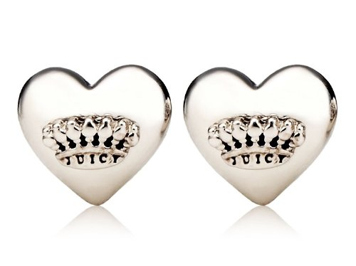 Juicy Couture Jewelry Puffed Heart Studs Silver