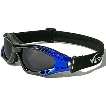 Virage Masque et Lunettes de Soleil - Multisports - Vtt - Moto - Voile - Conduite - Motard / Mod. Storm Bicolore Noir Bleu / Taille Unique Adulte / Protection 100% UV400