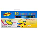 SUPERTITE 30 MAXI SIZE WAX CRAYONS SET OF 30 ASSORTED COLOURS