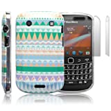 Blackberry Bold 9900 Totally Tribal 'Retro Vintage Aztec' (designed by Creative Eleven) TPU Gel Skin / Case / Cover + 2-in-1 Screen Protector Pack - Part Of The Qubits Accessories Range