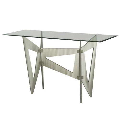 Cheap Nova Lighting 5210249 Brushed Aluminum Triad Triad 28″ Height Console Table 5210249 (B009KXGWPU)