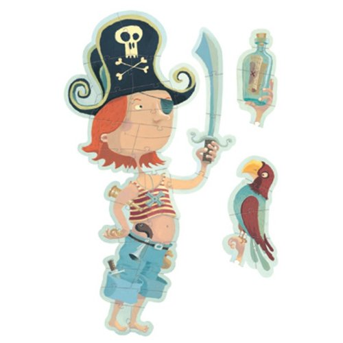 Cheap Papo Oscar the Pirate Puzzle – 30 Pieces + 10 Accessory Pieces (B000NOO54A)