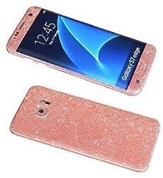 Galaxy S7 Edge Bling Skin Sticker, Supstar® Premium Glitter Full Body Vinyl Decal [Dustproof, Anti-Scratch] Screen Protector for Samsung Galaxy S7 Edge 5.5