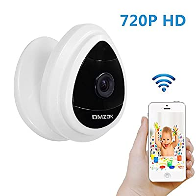 DMZOK Mini Security IP Camera, 1280x720p Home Surveillance Camera Wireless IP Camera With Built In Microphone WiFi Security Camera, Baby Video Monitor Nanny Cam,Motion Detection