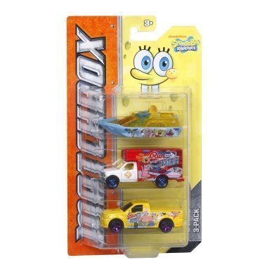 Matchbox Tv Heroes Spongebob Squarepants 3-vehicle Pack