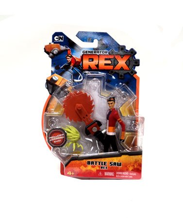 Generator Rex 4 Inch Action Figure Battle Saw Rex Other Outfit - 1