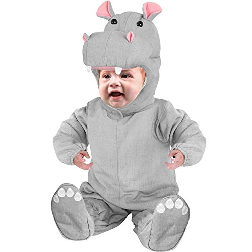 [Infant Baby Hippo Costume (Size: 3-6M)] (Hippo Costume For Toddler)