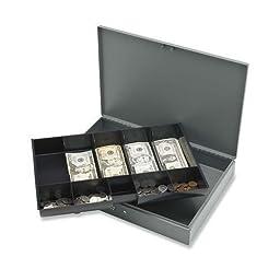 Sparco Cash Box,w/ 2 Keys,10 Compartments,15-2/5\