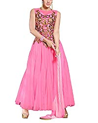 Jiya Women Net Dress(BTSTDRY9066 ,Light Pink)