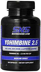 Serious Nutrition Solution Yohimbine 2.5, 100 capsules