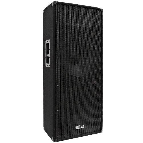 "Seismic Audio - Fl-155P - Pro Audio Pa/Dj Dual 15"" Speaker - 100% Birch Plywood - 800 Watt Each"