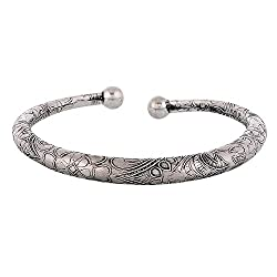 Dazzle Collections German Silver Kada Metal Anklet