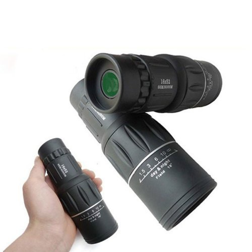 Bial Super Clear 16X52 Dual Focus Day And Night Vision Telescope Optics Zoom Monocular Scalable Telescopic 66M/ 8000M