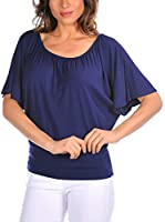 La Bohème Camiseta Manga Corta Iris (Azul Marino)