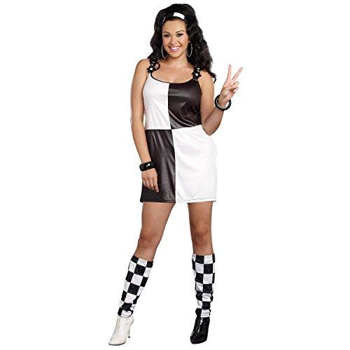 [GSG Go Go Girl Costume Adult 60s Mod Halloween Fancy Dress] (60s Mod Girl Costumes)