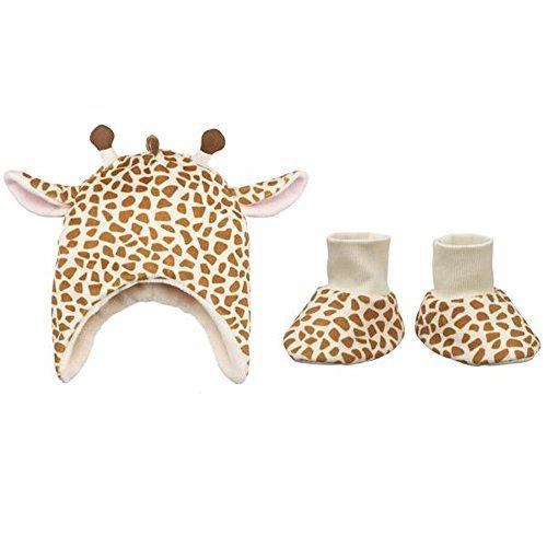 Ganz Baby Giraffe Hat & Slippers Set, 3-6 Months - 1