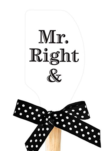 Brownlow Gifts Mr. and Mrs. Right Silicone Spatula, White