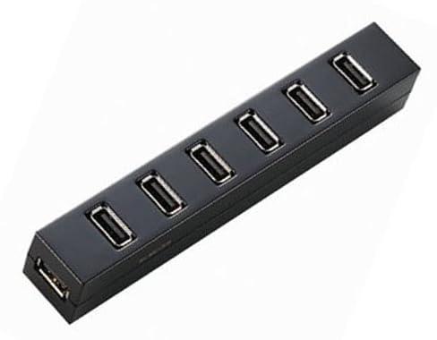 ELECOM USBハブ USB2.0対応 がっちり固定 マグネット付 セルフ・バスパワー両対応 7ポート 1.5m ブラック U2H-Z7SBK