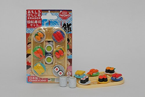 "IWAKO Japanese Eraser ""Conveyor Belt Sushi Blister Set"""
