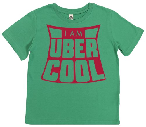 Phunky Buddha - The Uber Cool Kid'S Unisex T-Shirt 7-8 Yrs - Green front-575432