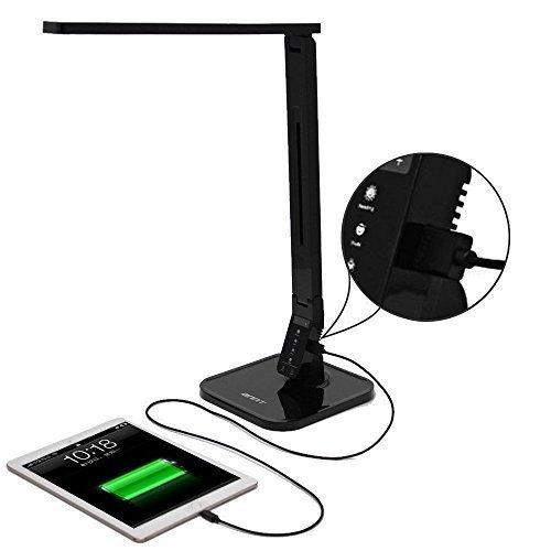 Descuento!! Lámpara LED de mesa con 4 modos de iluminación y cargador USB ANNT