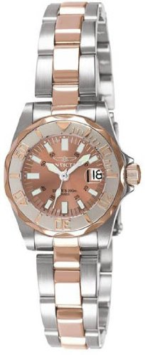 Invicta 7067 Invicta Sapphire Lady Diver Stainless Steel Rose Gold Womens Watch