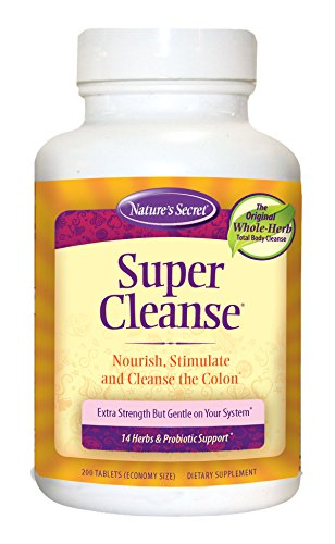 Nature's Secret Super Cleanse Herbal Supplement Tablets, 200-Count Bottles (Pack of 2) (Super Colon Cleanse compare prices)