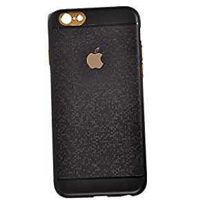 ROKAYA™ High quality Silicon Desighner Back Cover back cover for Apple IPHONE 6/6S Black