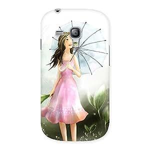 Cute Umbrella Princess Multicolor Back Case Cover for Galaxy S3 Mini