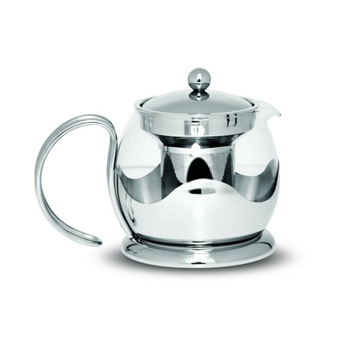 sabichi-teapot-with-loose-tea-leaf-filter-infuser-and-pot-holder-glass-silver-12-litre-12-piece