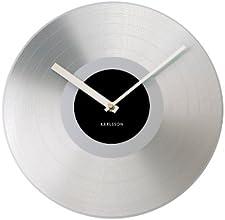 Karlsson KA4824 Horloge Platinum Record Argent Diamètre: 31 cm