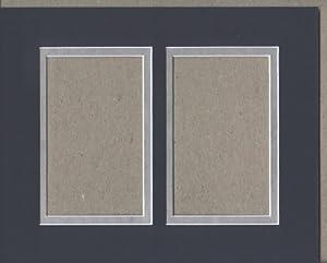 Amazon Com 16x20 Navy Blue Amp Silver Double Picture Mat