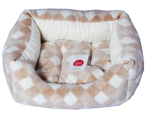 オーガニックコットン 犬 猫のベッド スクエア型 ダイア柄 M appydog