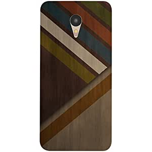Casotec Wood Colorfull Pattern Design 3D Printed Hard Back Case Cover for Yu Yunicorn