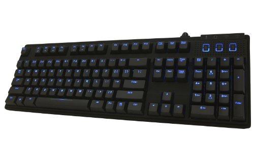 Max Keyboard Nighthawk-X8 Blue Led Backlit Mechanical Keyboard (Brown Cherry Mx)
