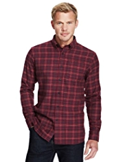 Blue Harbour Pure Cotton Checked Thermal Shirt