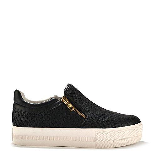 Ash Scarpe Jordy Sneaker di Cuoio Nero, Donna 39 EU Nero