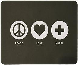 Rikki Knight Peace Love Nurse Green Color Design Lightning Series Gaming Mouse Pad (MPSQ-RK-42098)