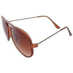 XLNC Unisex Aviator Sunglasses (PLAVBWN01, Brown)